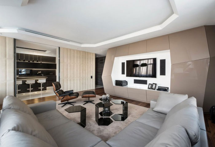 Marvelous 85035946477 Futuristic Interior Design In Dominion Apartment By Geometrix  Design Design