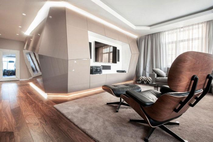 futuristic interior design in dominion apartmentgeometrix design
