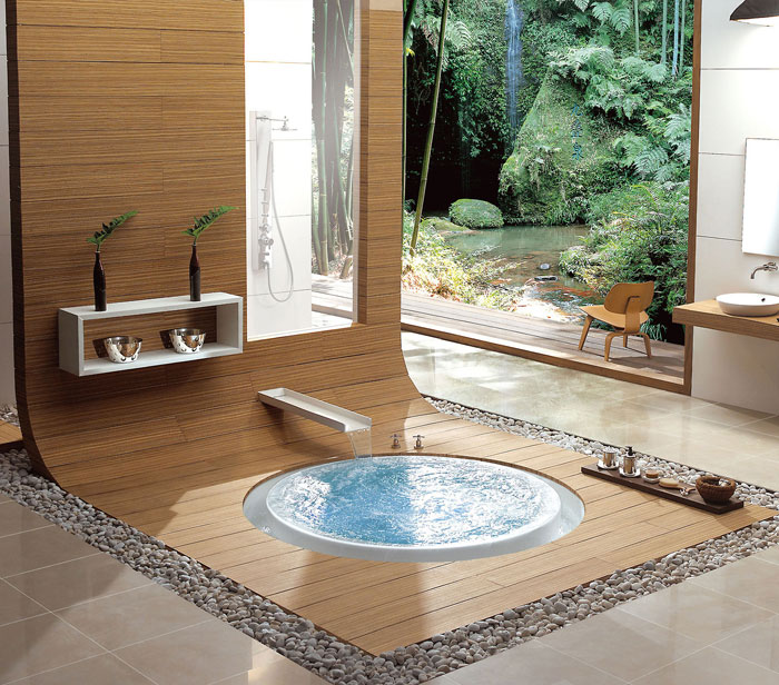 The Elegant Design Of Japanese Styled Bathroom 6