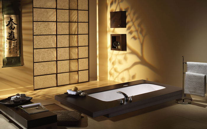 The Elegant Design Of Japanese Styled Bathroom 8