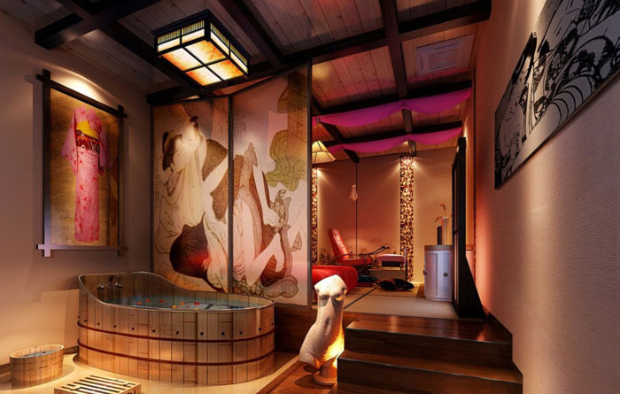 The Elegant Design Of Japanese Styled Bathroom 15