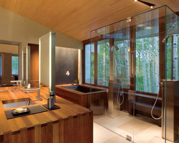 The Elegant Design Of Japanese Styled Bathroom 2