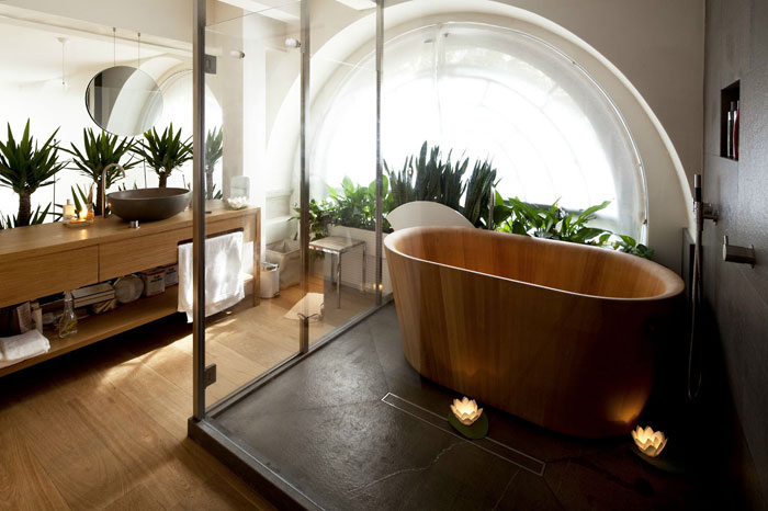 The Elegant Design Of Japanese Styled Bathroom 1
