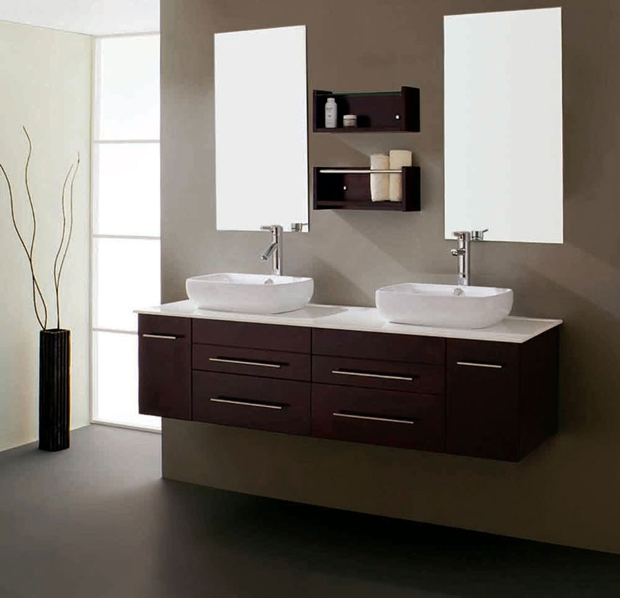 Floating Sink Cabinets Design Examples To Use In Your Bathroom 12