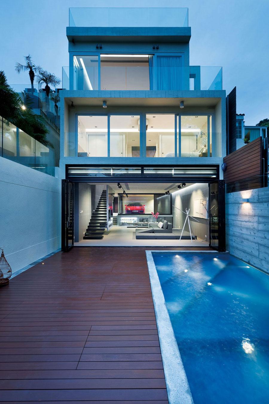 sleek and modern interior design of a split level home 1 sleek and modern interior design of a split level home