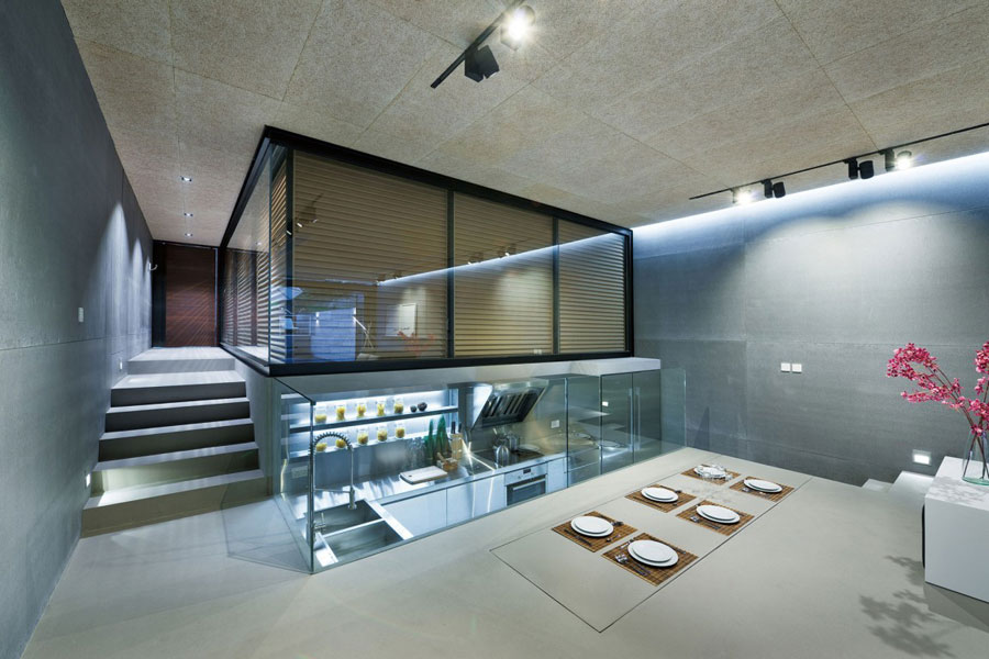 Sleek And Modern Interior Design Of A Split Level Home