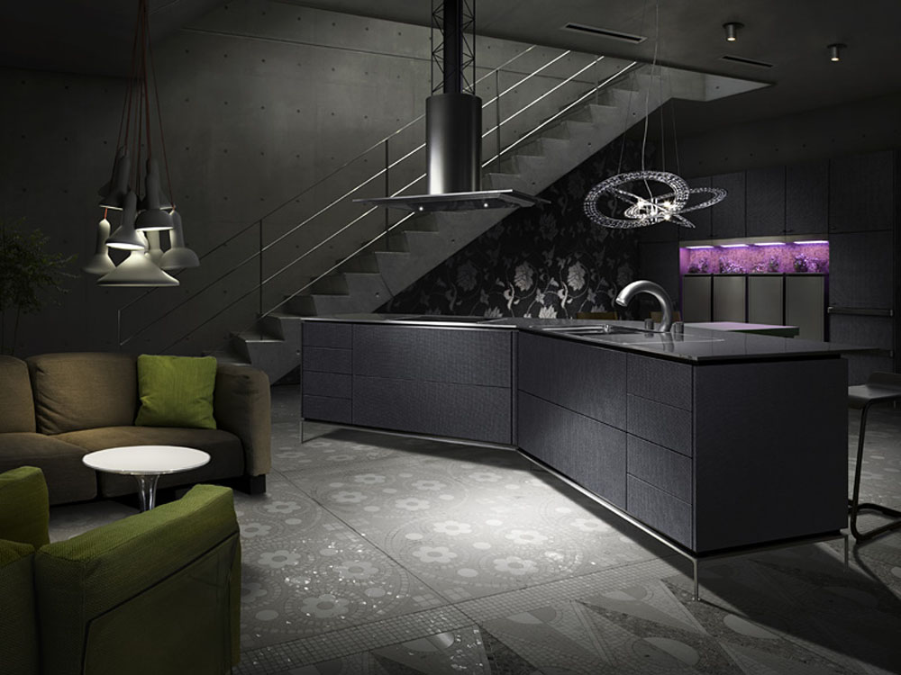 B27 The Unexpected Stylish Look Of Black Kitchen Designs