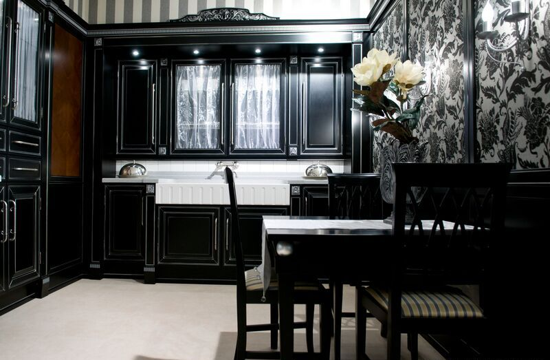 b4 the unexpected stylish look of black kitchen designs - Kitchen Ideas With Black Cabinets