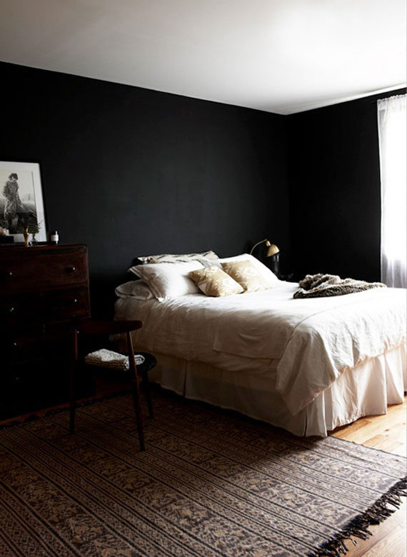 Blackwall19 Black Walls Ideas For Your Modern Interiors 47 Pictures