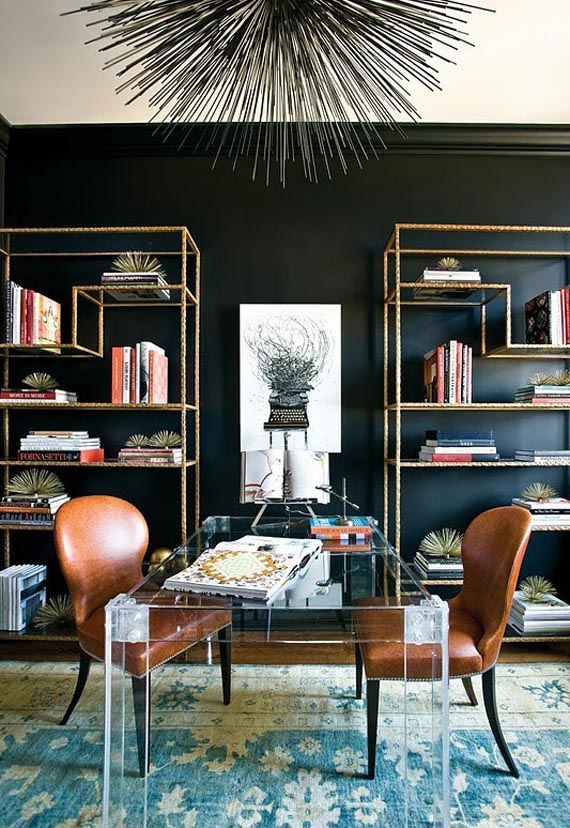 Black Walls black walls ideas for your modern interiors (47 pictures)