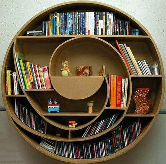 Unique Bookshelves Designs You Would Like To Own 16