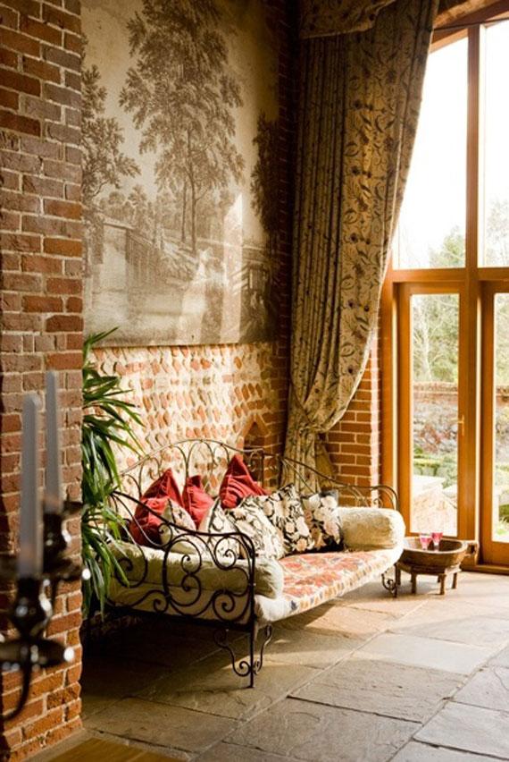 Brick12 Brick And Stone Wall Ideas (38 House Interiors)