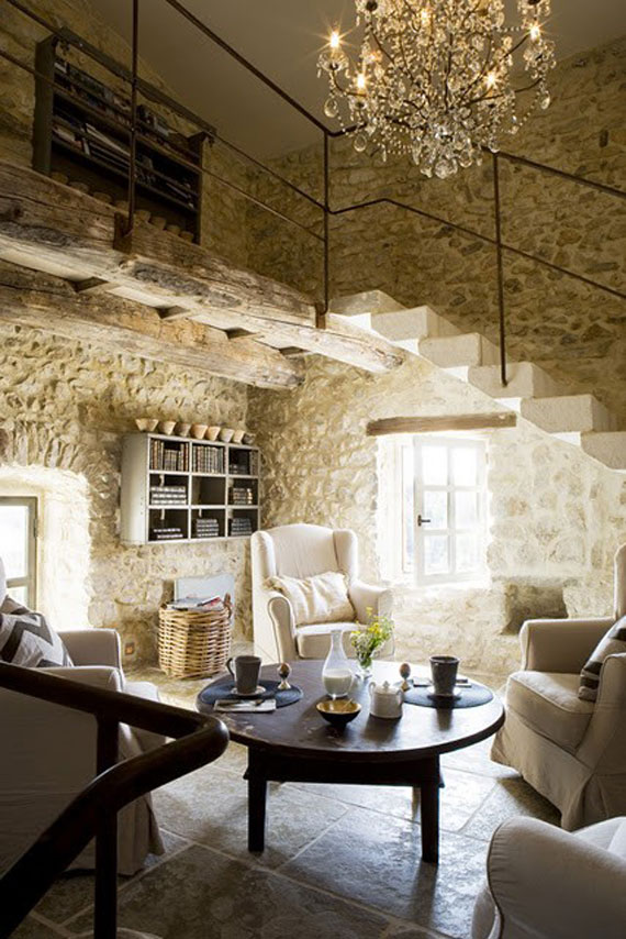 Brick And Stone Wall Ideas For A House's Interiors 22