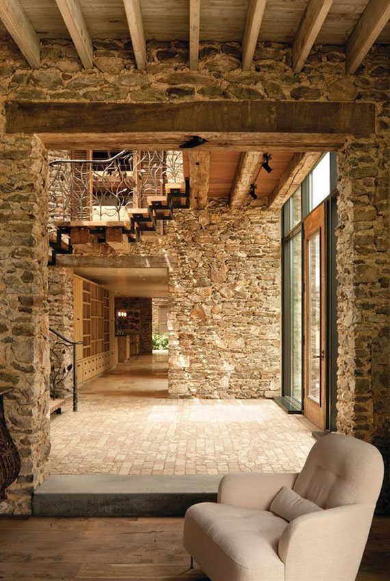 brick25 brick and stone wall ideas 38 house interiors - Stone Cottage Interiors