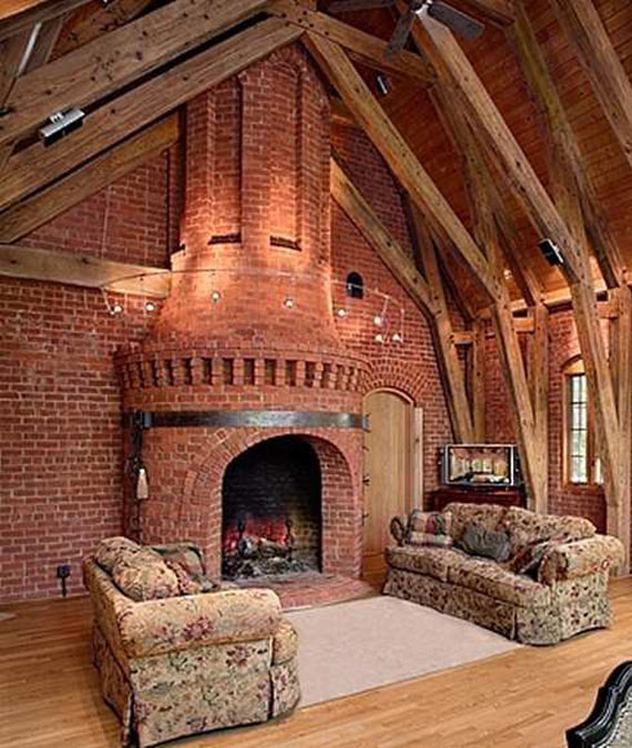 Brick And Stone Wall Ideas For A House's Interiors 28