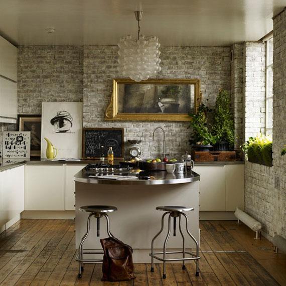 Brick28 Brick And Stone Wall Ideas (38 House Interiors)