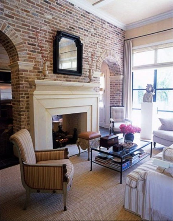 Brick And Stone Wall Ideas For A House's Interiors 6