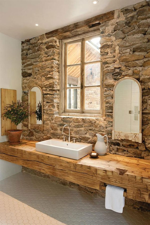 brick and stone wall ideas for a houses interiors 8