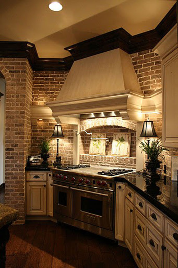 Brick9 Brick And Stone Wall Ideas (38 House Interiors)
