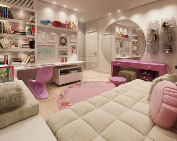 colorful girls rooms design decorating ideas 44 pictures rh impressiveinteriordesign com interior designer - modern girl bedroom interior design teenage girl bedroom ideas