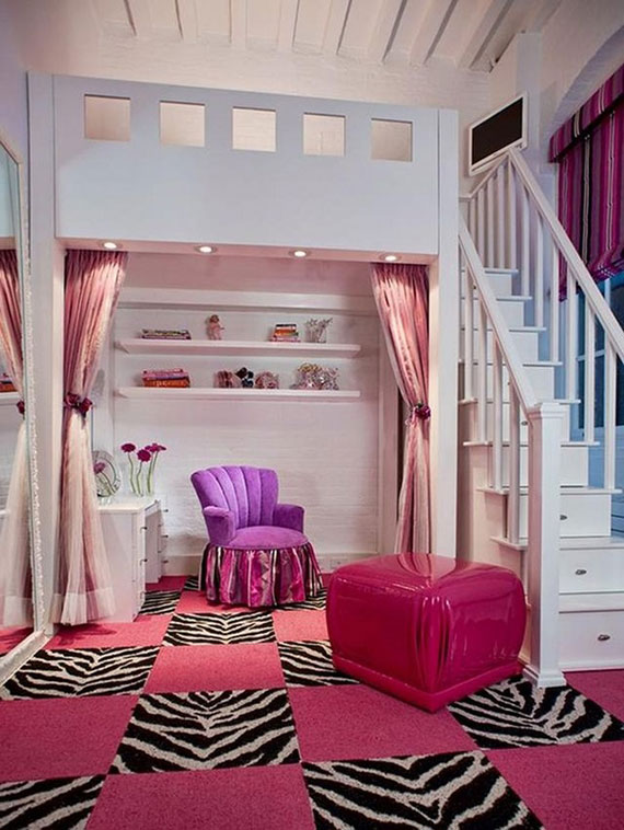 Bedroom Decor For Girls colorful girls rooms design & decorating ideas (44 pictures)