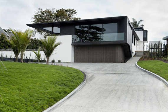Cls1 Modern Black And White Dream Home Lucerne House By Daniel Marshall Architects