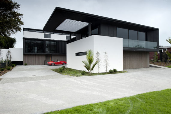 Cls4 Modern Black And White Dream Home Lucerne House By Daniel Marshall Architects
