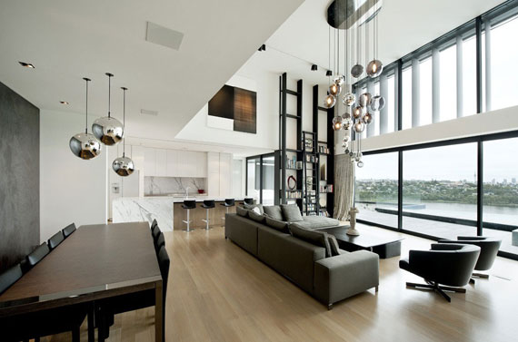 Cls9 Modern Black And White Dream Home Lucerne House By Daniel Marshall Architects