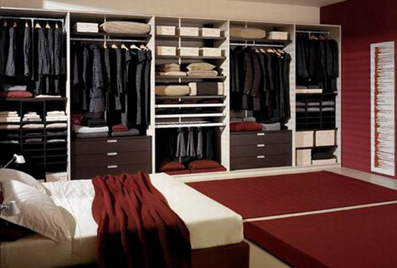 useful design ideas to organize your bedroom wardrobe closets 10