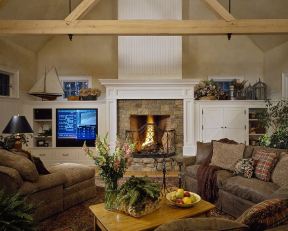 Modern And Traditional Fireplace Design Ideas - 35 Photos 2
