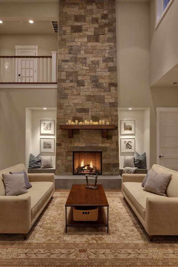 Fireplace Design Idea corner fireplace design with firewood storage lighting and mantel decorating ideas F23 Modern And Traditional Fireplace Design Ideas 45 Pictures