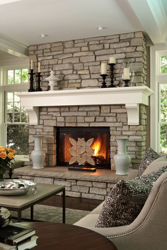 Modern And Traditional Fireplace Design Ideas - 35 Photos 29
