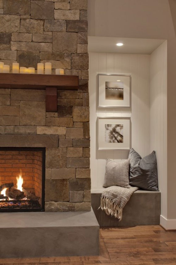 Modern And Traditional Fireplace Design Ideas - 35 Photos 3