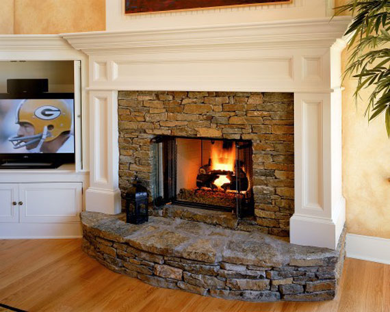 Modern And Traditional Fireplace Design Ideas - 35 Photos 30