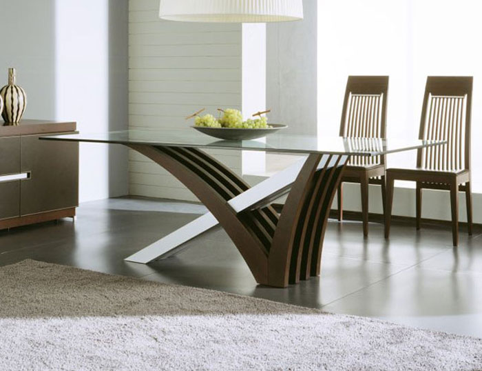 Glass Dining Room Tables To Add A Contemporary Touch To Your - Very modern dining table