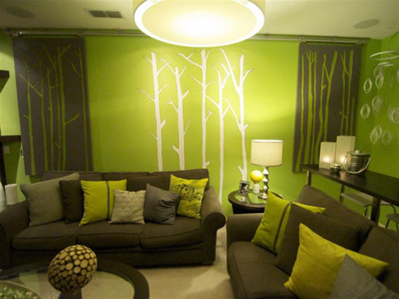 G21 Green Living Room Design Ideas: Decorations And Furniture