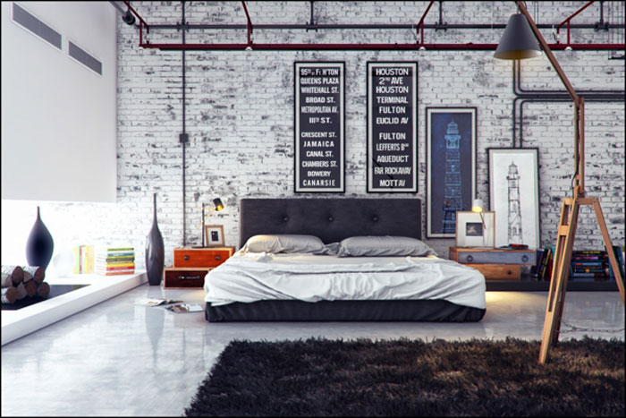 Good 69800323799 Ideas For Designing Your Bedroom In An Industrial Style Part 4