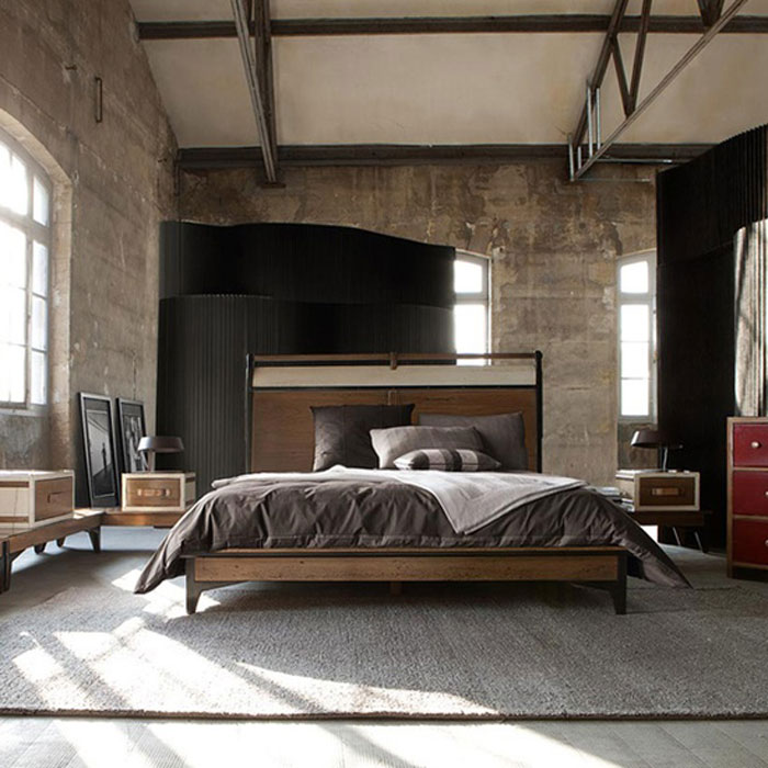 69800385854 Ideas For Designing Your Bedroom In An Industrial Style