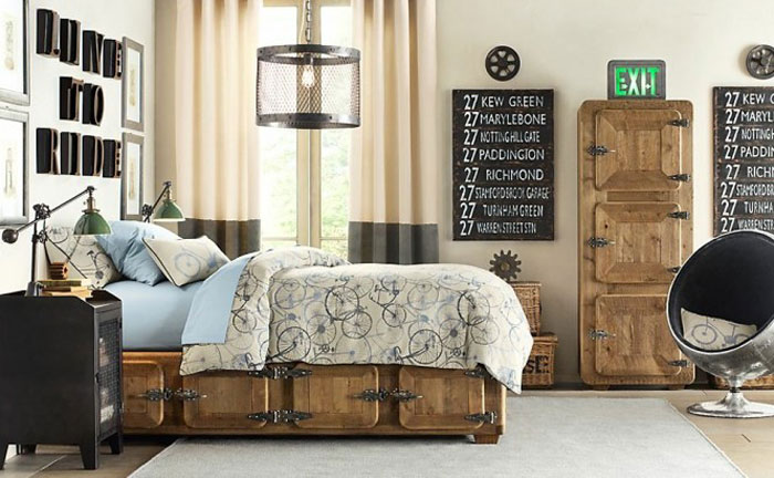 69800400089 Ideas For Designing Your Bedroom In An Industrial Style