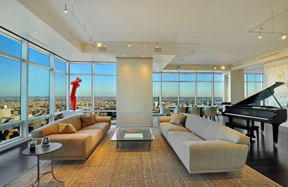 Minimalist Manhattan Penthouse With Glass Exterior Walls