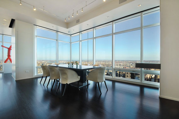Man3 Minimalist Manhattan Penthouse With Glass Exterior Walls