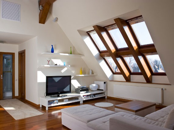Attic Design Ideas bright attic living room Mansarda28 Inspiring Attic Design Ideas For The Exquisite Space You Want To Create