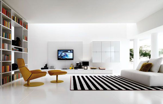 Attractive White And Black Livingroom Living Room Designs: 132 Interior Design Ideas