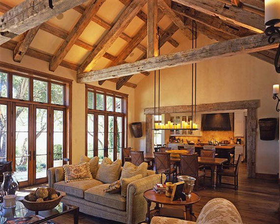 Log cabin interior design 47 cabin decor ideas for Small office cabin interior design ideas