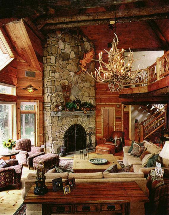 Mh25 Log Cabin Interior Design 47 Decor Ideas