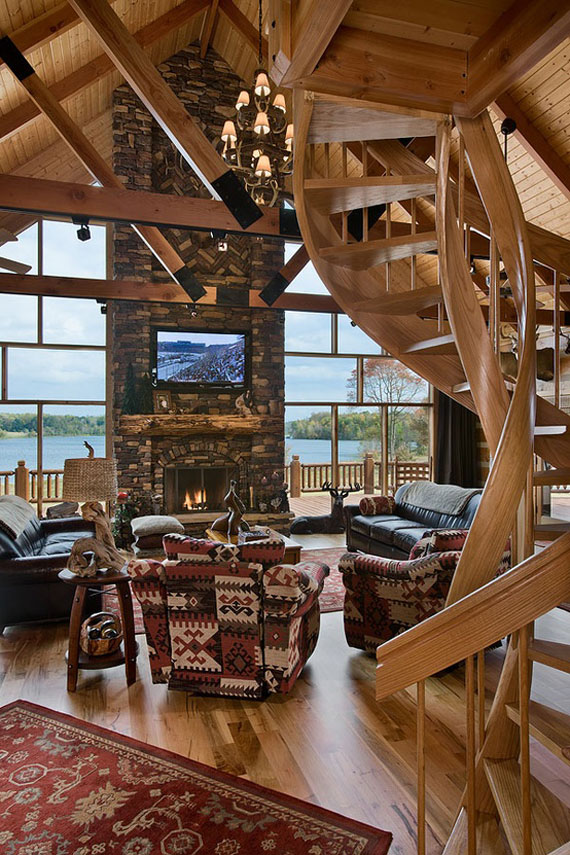 Elegant Mh6 Log Cabin Interior Design: 47 Cabin Decor Ideas