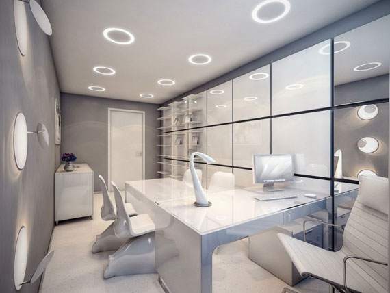 simple and classy office interiors with modern influences
