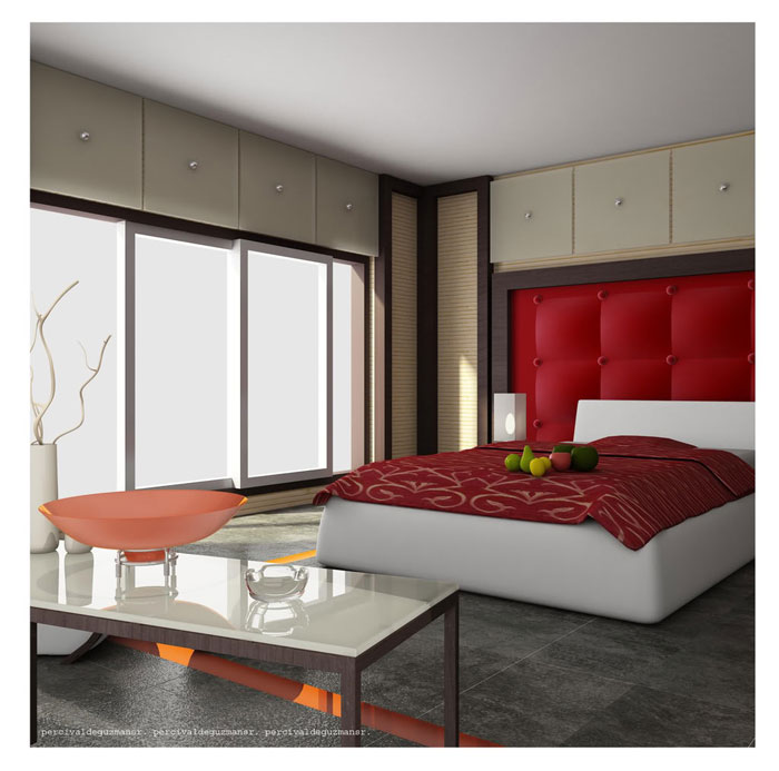 . Ideas To Decorate Your Bedroom With Red  White And Black