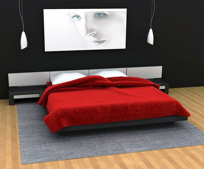 Black And White And Red Bedroom Ideas Part - 35: 68962349410 Ideas To Decorate Your Bedroom With Red, White And Black