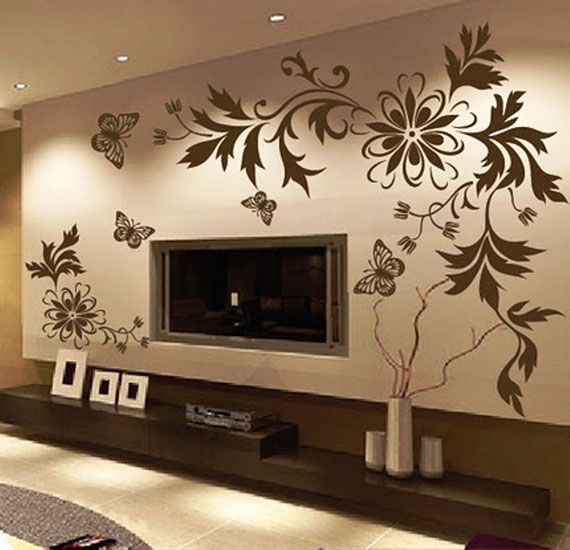 decorative wall decals for your house's interiors (43 pictures)